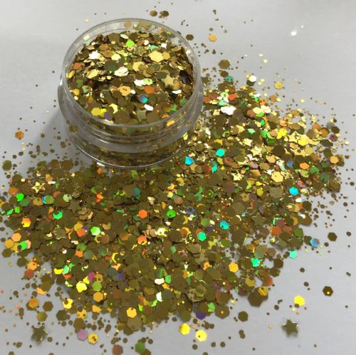 GOLD STAR GLITTER POT - 10g